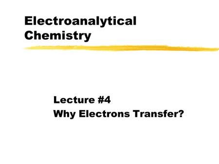 Chapter 4 Electrochemical kinetics at electrode / solution
