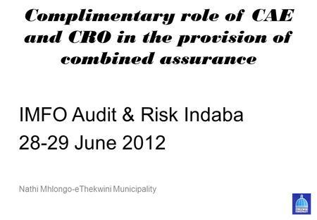Applying COSO's Enterprise Risk Management — Integrated