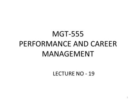Chapter 7 Implementing a Performance Management System