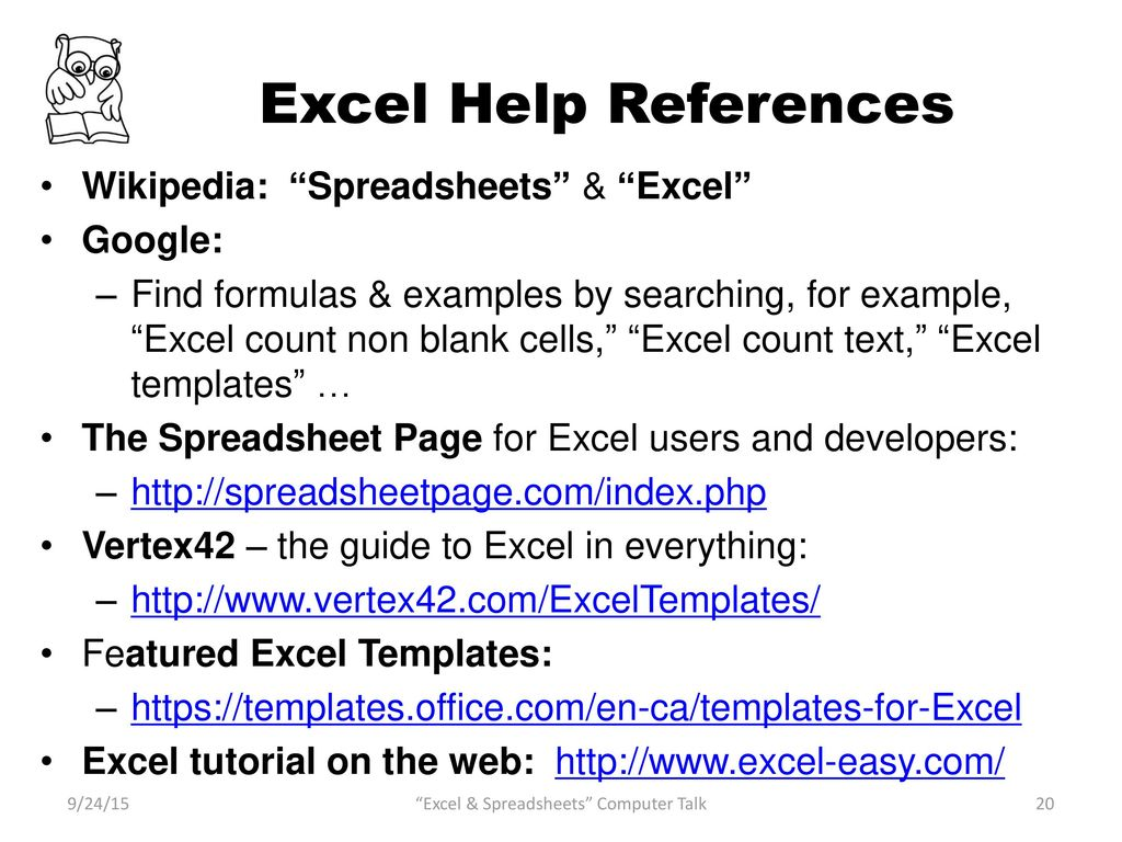 Introduction to Excel and Spreadsheets - ppt download