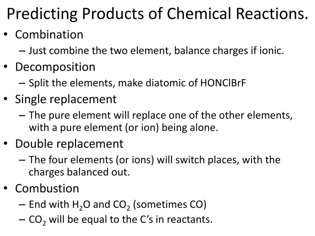 Chemical Reactions Unit 11 Chapter 11