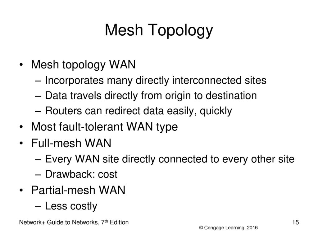 partial mesh topology diagram water cycle with questions network 43 guide to networks 7th edition ppt download