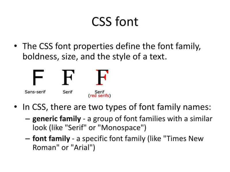 how to change font style color in css