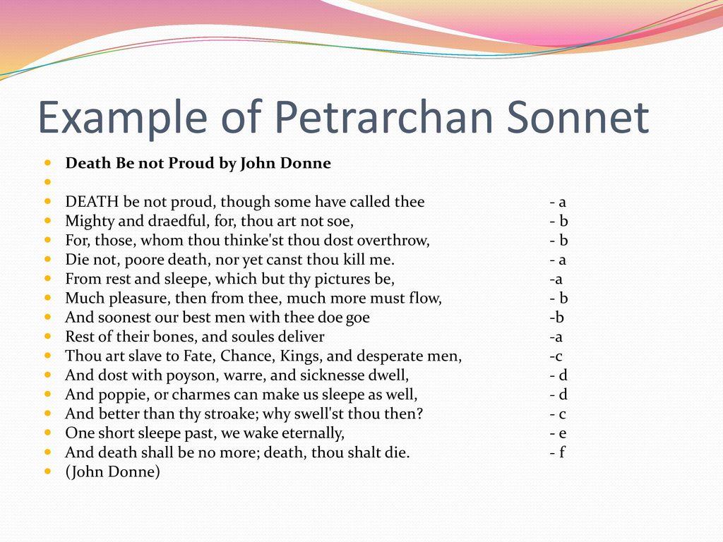 Types Of Poetry I Lyric Sonnet Elegy Dirge Ballad