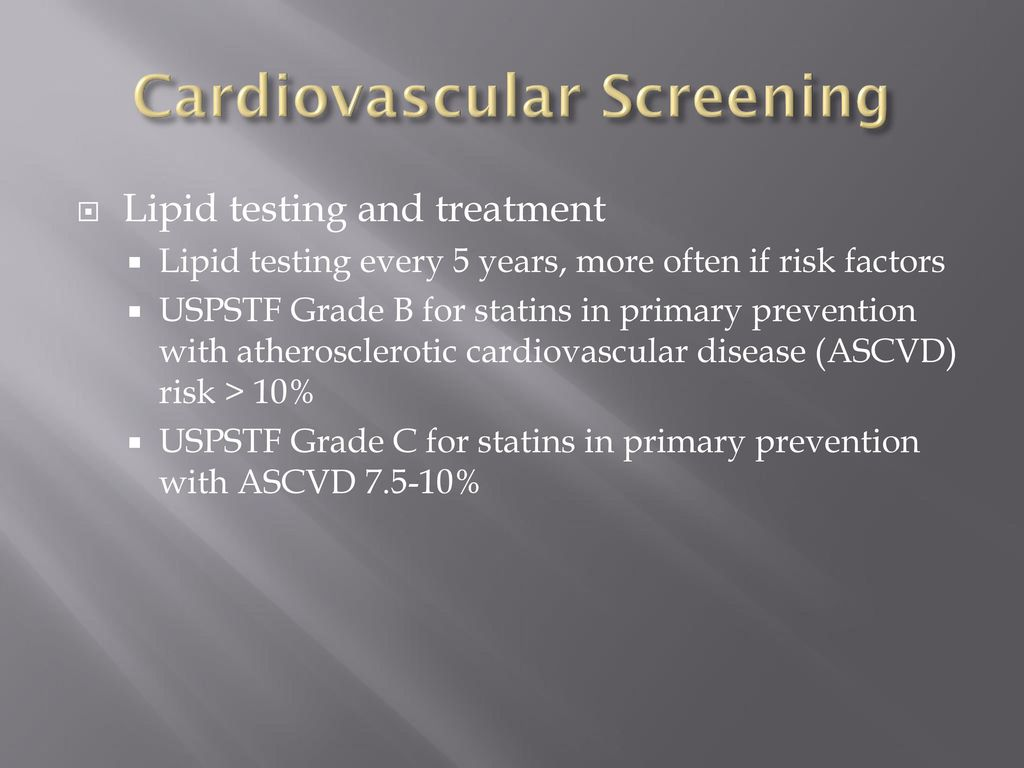 Prevention And Screening Tests In The Elderly