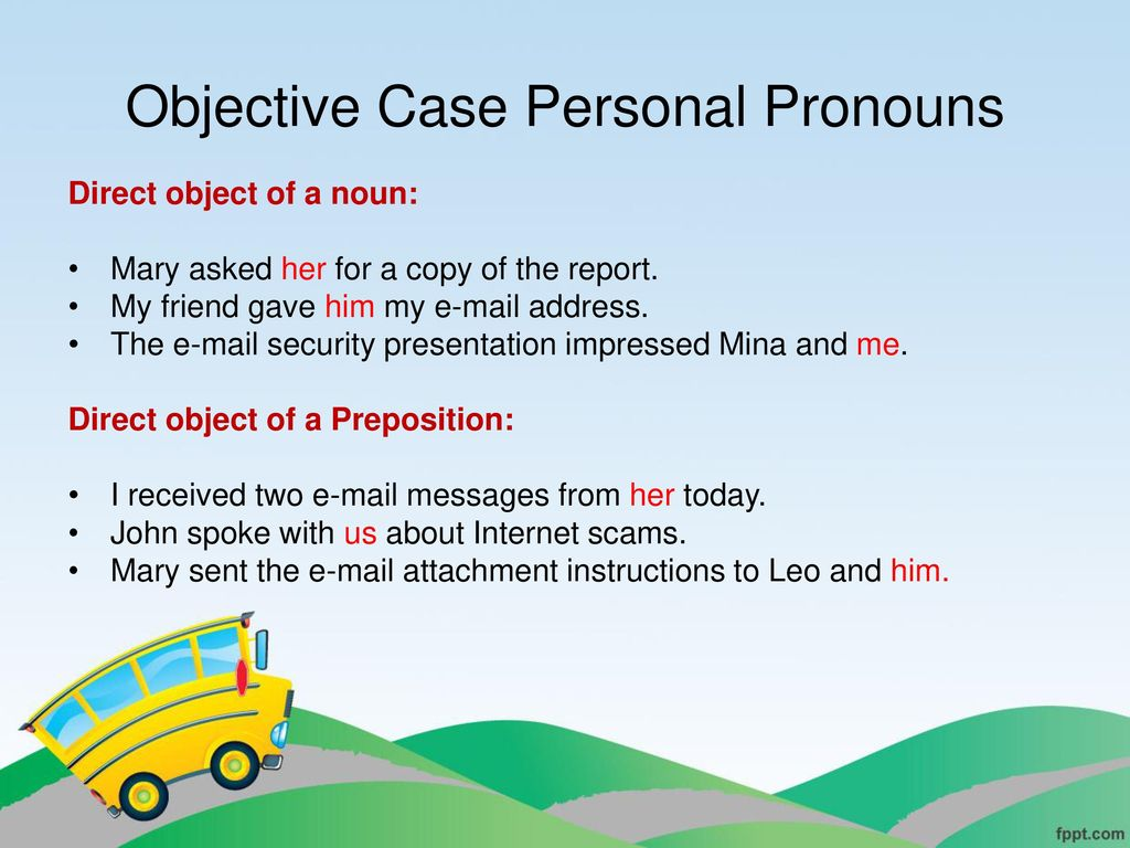 Unit 2 Pronouns