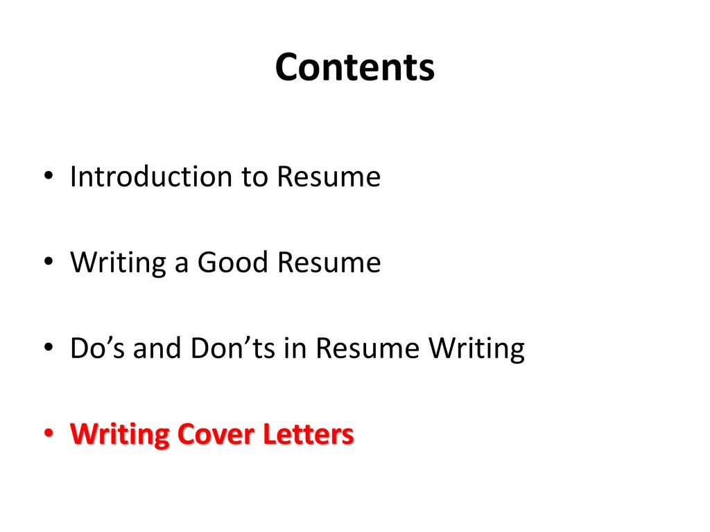 Writing A Good Resume Resume Writing For The Fresh Graduates Ppt Download