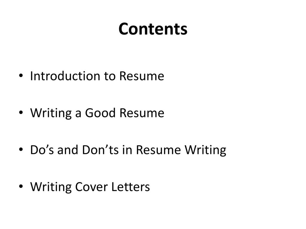 Good Resume Introduction Examples Resume Writing For The Fresh Graduates Ppt Download