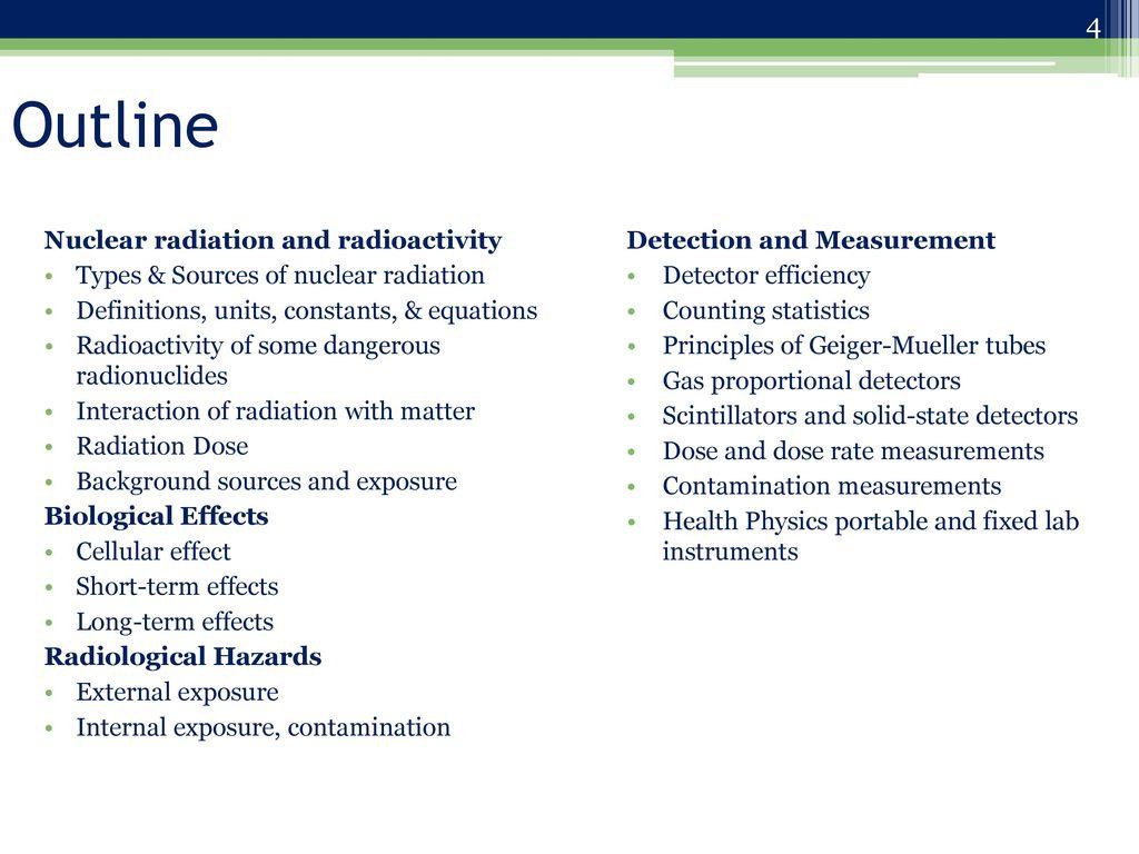 Radiochemistry Webinars Nuclear Radiation Safety