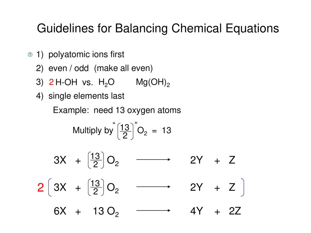 Chemical Equations Depict The Kind Of Reactants And Products