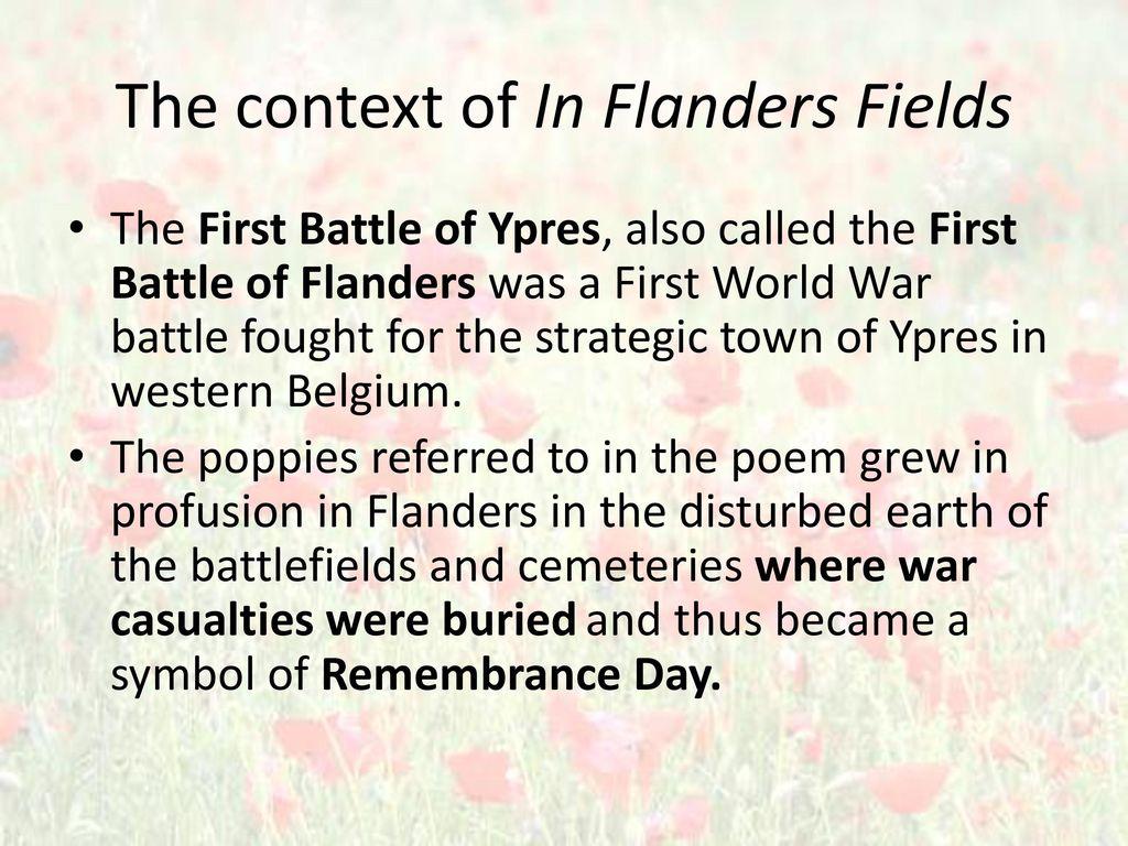 In Flanders Fields WWI poem John McRae  ppt video