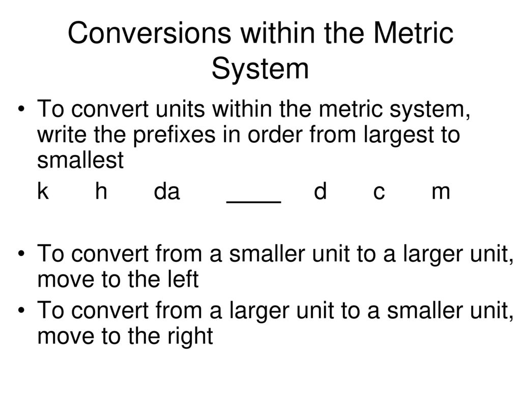 Metric System Worksheet Finding The Greatest Common Factor
