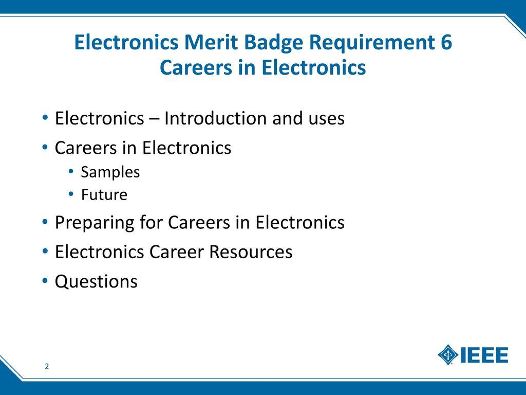 Pictures Electronics Merit Badge Worksheet