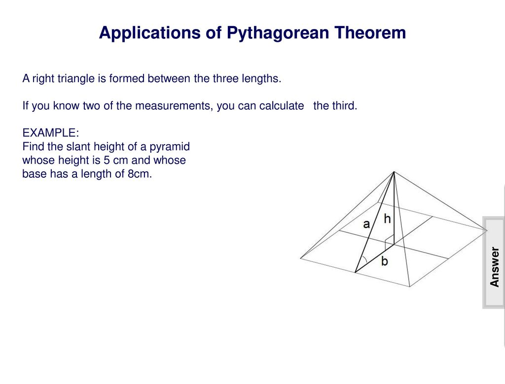 Pythagorean Theorem Distance Amp Midpoint