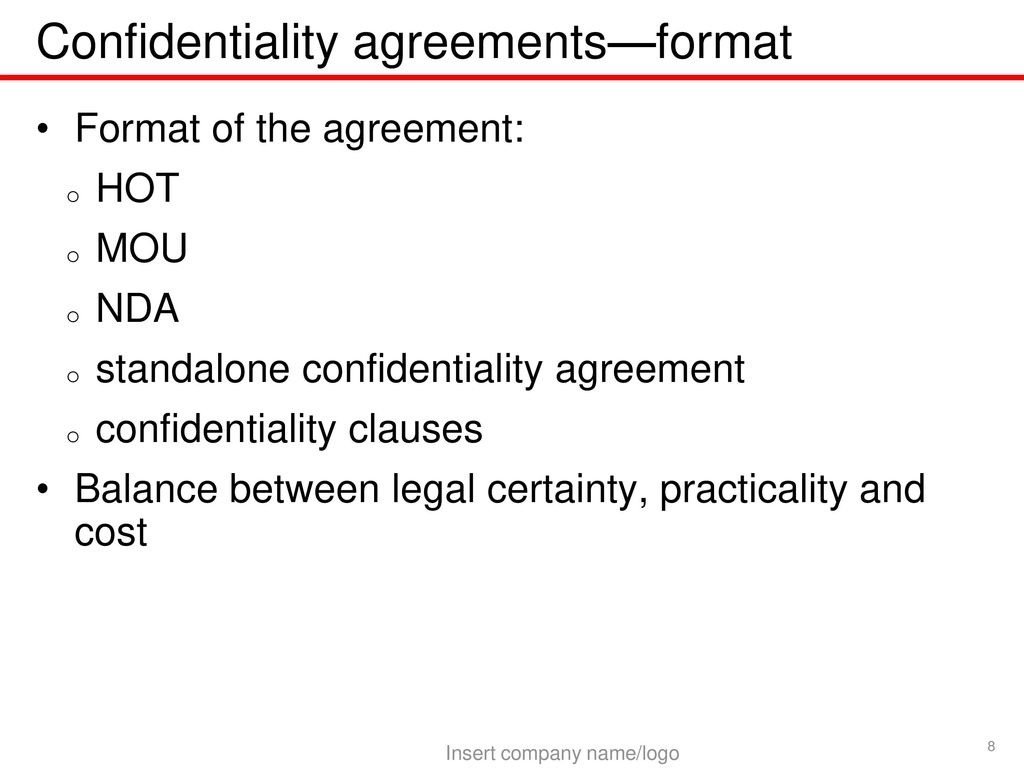 Contents Law: Meaning of confidential information - ppt download