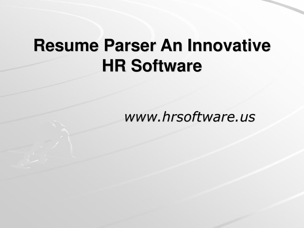 Resume Parser An Innovative Hr Software Ppt Download