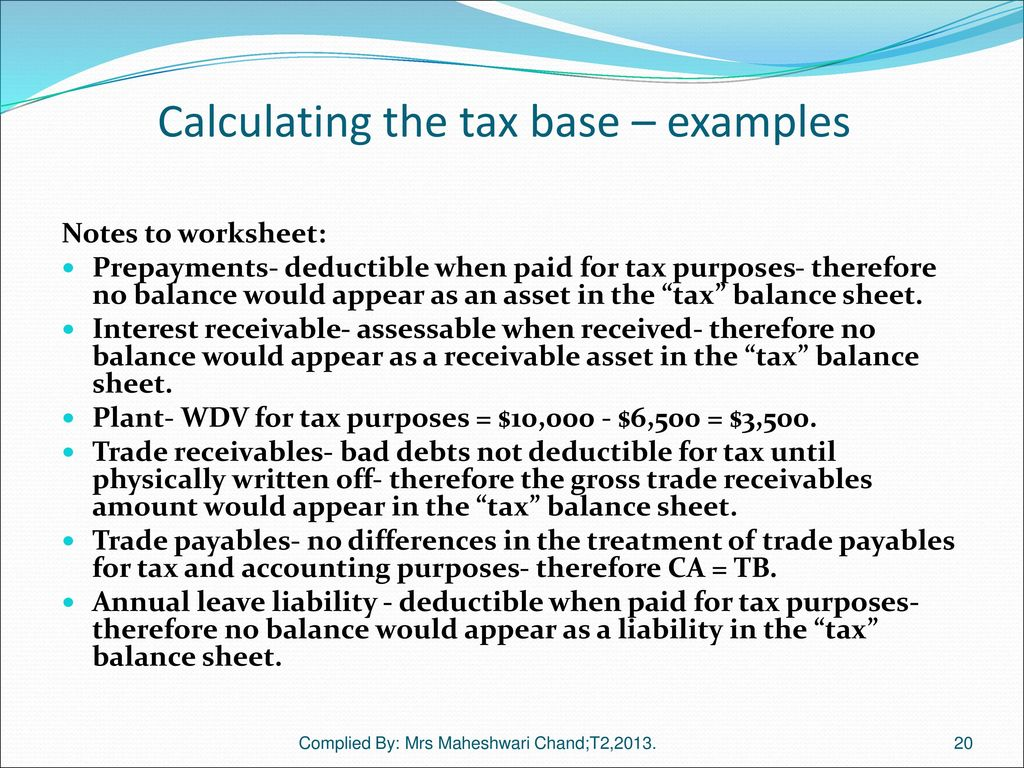 Tax Effect Accounting Ias 12 Reference Text Chapter
