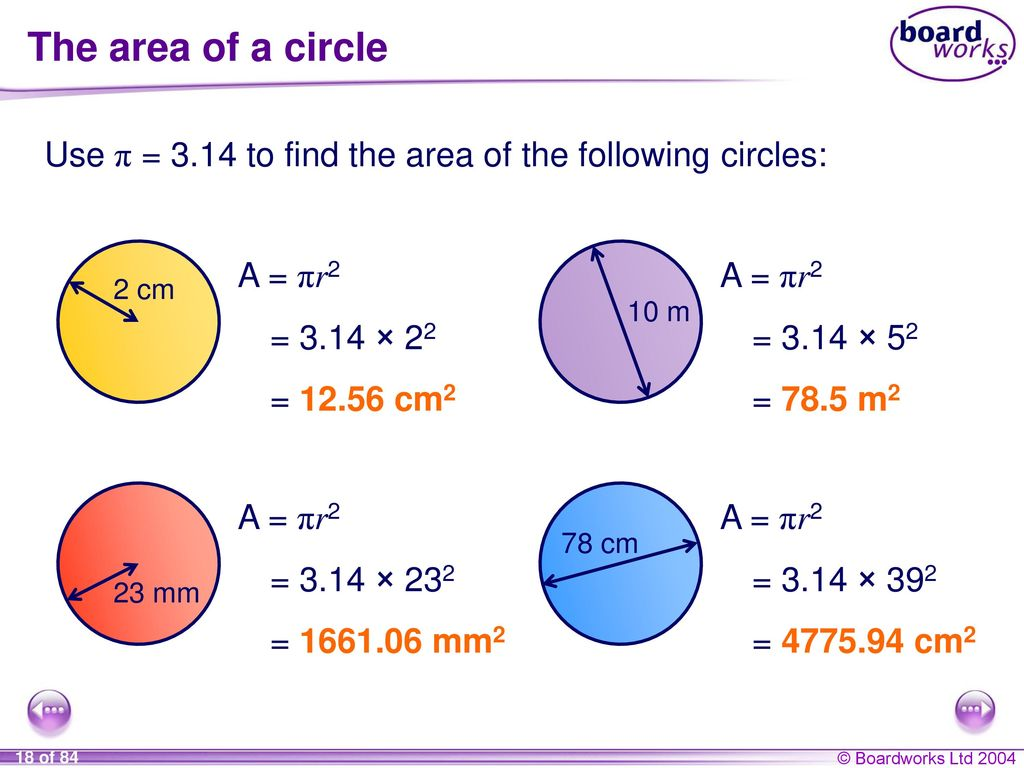 Circle Circumference Arc Length Area And Sector
