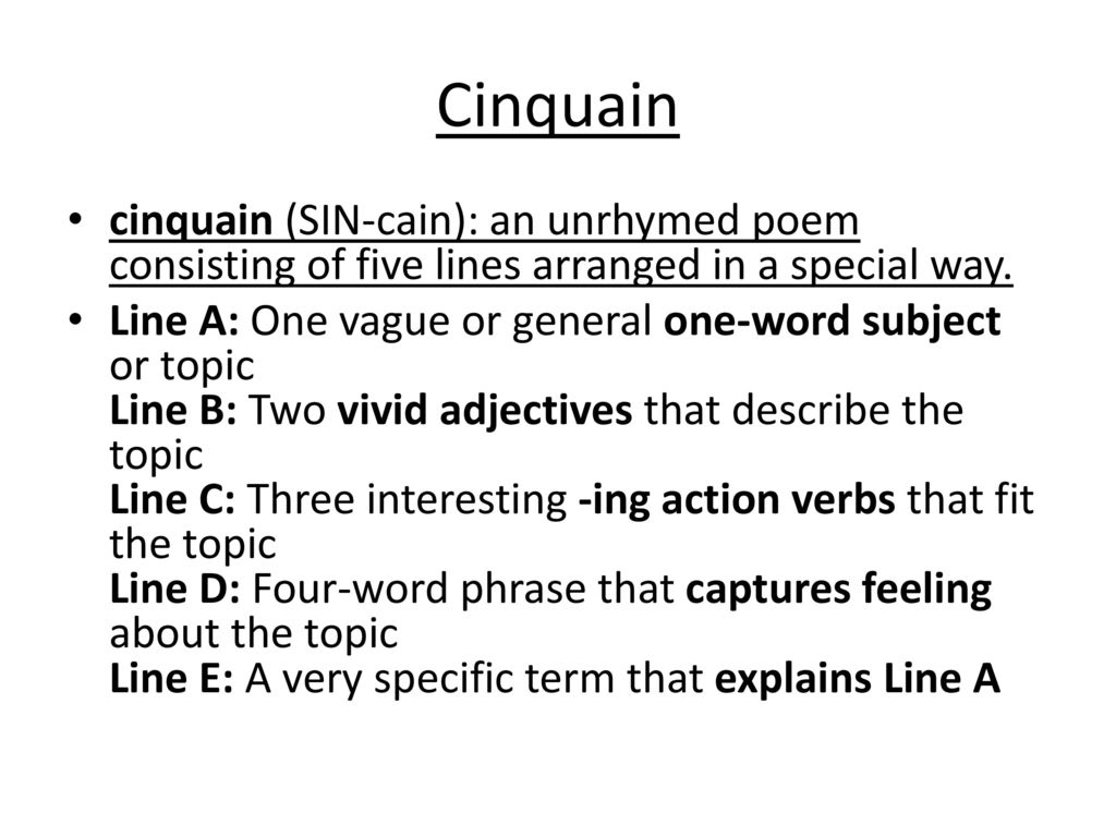 2 22 Cinquain Acrostic And Diamante Poems Ppt Download