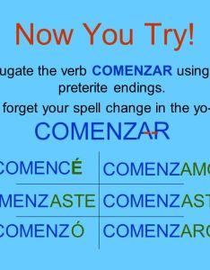 Comenzar preterite verb chart preferir also pictures of conjugation kidskunstfo rh
