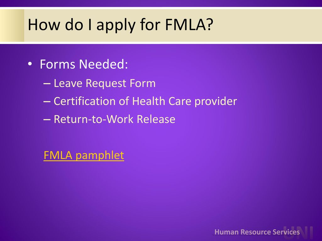 How Do I Apply For Fmla Forms Needed: Leave Request Form