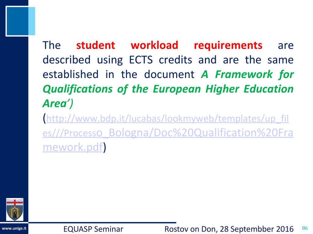 Study Programmes in the European Higher Education Area - ppt download