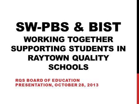 DE-PBS School-wide Positive Behavior Supports Team