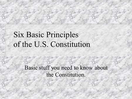 Unit 2 Day 6 TLW: Develop an understanding of federalism