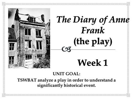 The Diary of Anne Frank. Timeline Adolf Hitler and the
