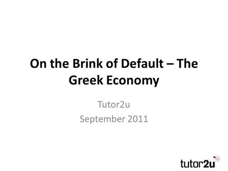 The European Debt Crisis. What caused the global recession