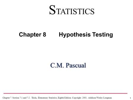 Chapter 8 Hypothesis Testing © McGraw-Hill, Bluman, 5th ed