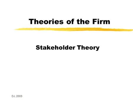 Why Stakeholder Theorists Should Support Stakeholder