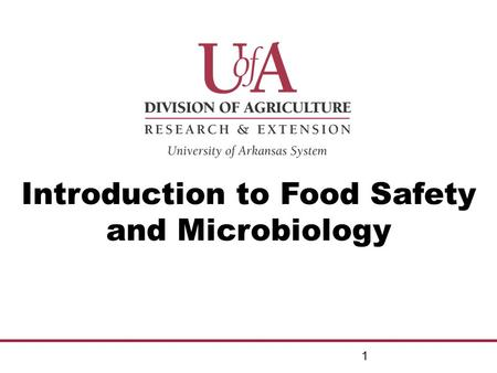 INTRODUCTION TO FOOD MICROBIOLOGY ppt download