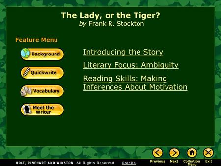 the lady or tiger plot diagram bosch dishwasher wiring frank stockton vocabulary ppt download introducing story literary focus ambiguity reading skills making inferences about motivation