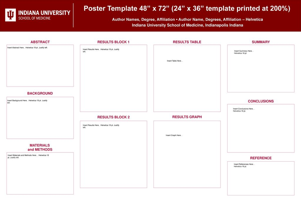 poster template 48 x 72 24 x 36
