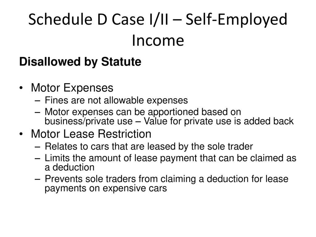 Self Employed Motor Expenses