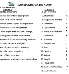 SCIENCE SKILLS REVIEW PACKET - ppt download [ 768 x 1024 Pixel ]