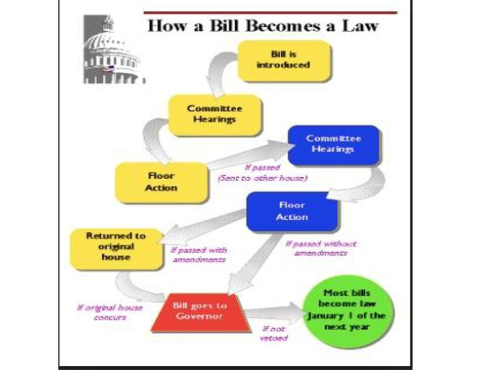 how a bill becomes a law local state