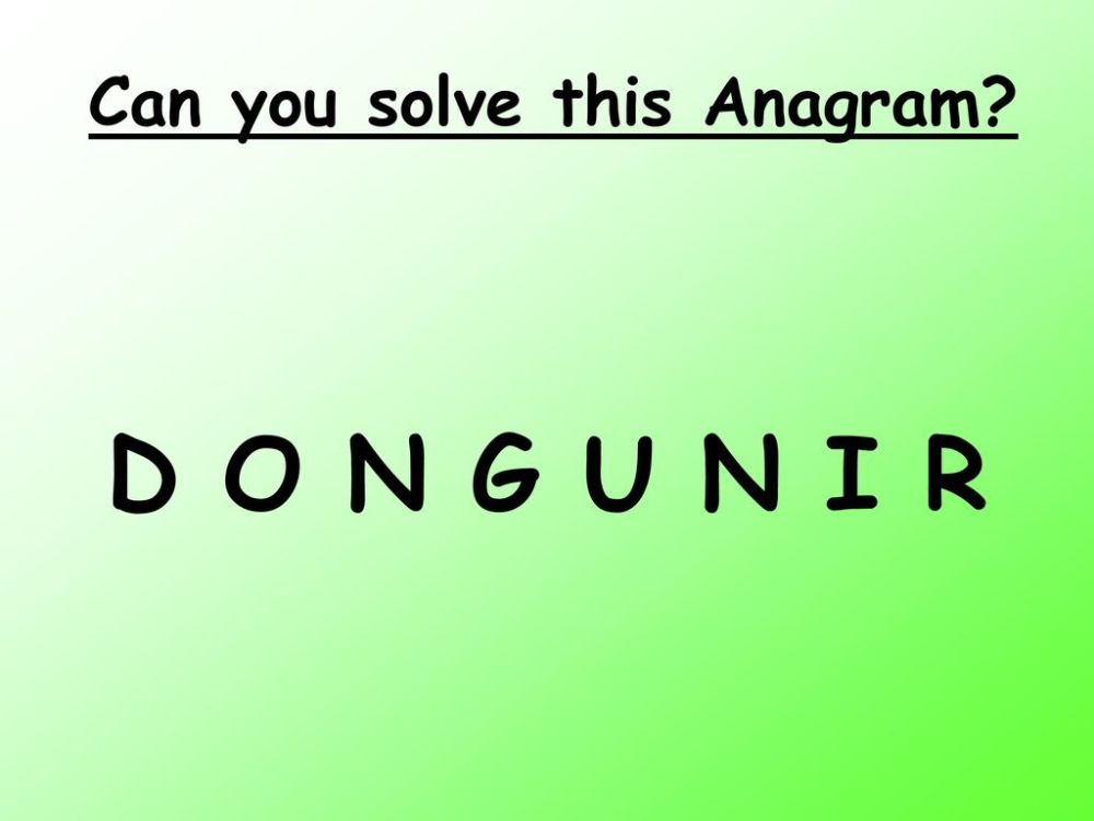 medium resolution of Can you solve this Anagram? - ppt download
