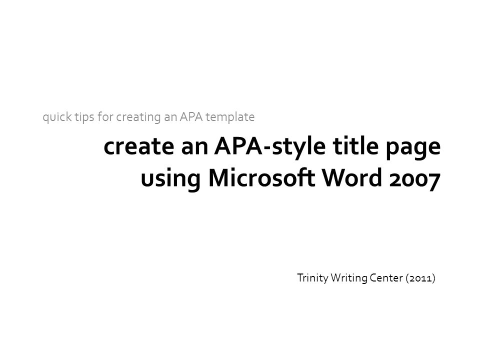 Format mla style research paper microsoft word 2007