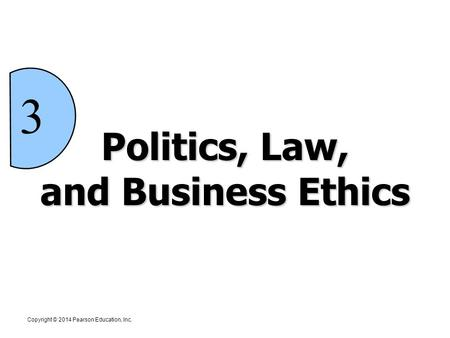Politics, Law, and Business Ethics 3 Copyright © 2012