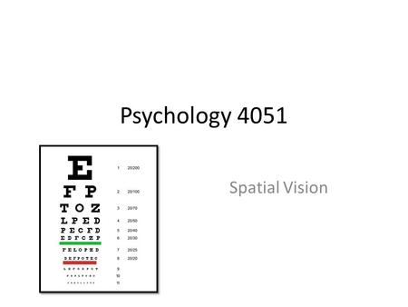 Visual Acuity Anne Bjerre October ppt download