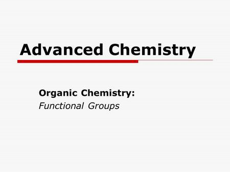 Organic Chemistry Chapter ppt video online download
