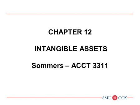 CHAPTER 10 Property, Plant, and Equipment and Intangible