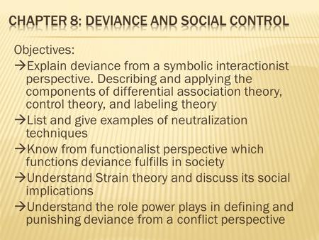 Deviance And Social Control Ppt Video Online Download