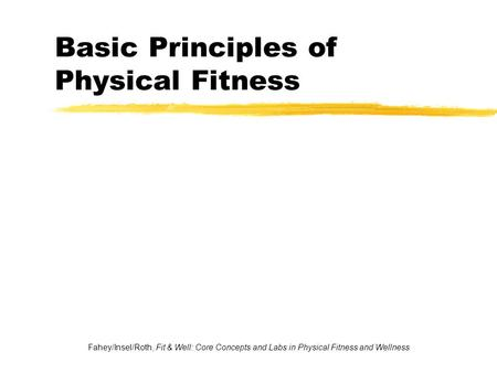 Independent Study Physical Education Principles of