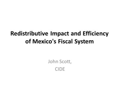 2013 Mexican Stata Users Group meeting Presentation Deep