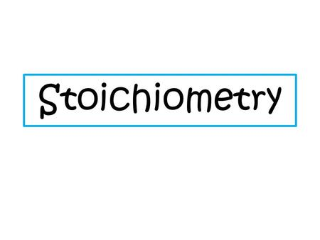 Solution Stoichiometry In solution stoichiometry, we are