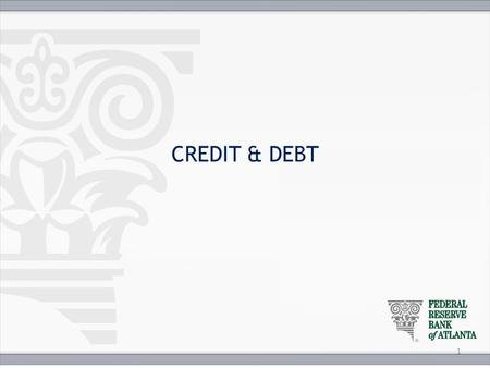 The Three C's of Credit Objectives: