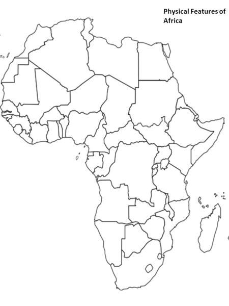 Geographic Map Of Africa Physical Features
